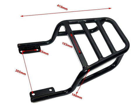 Royal Enfield Interceptor 650 Continental GT 650cc Top Rear Rack Carrier Black