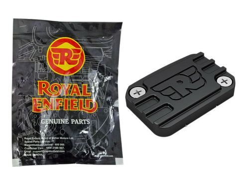 Machined Front Reservoir Cap Black Royal Enfield Interceptor 650