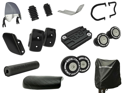 Royal Enfield Interceptor 650cc Accessory Products Combo Pack 12 Item