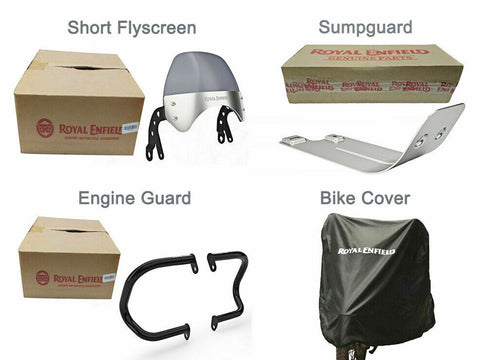 Brand New Royal Enfield Interceptor 650cc Accessories 4 Pcs Combo Pack