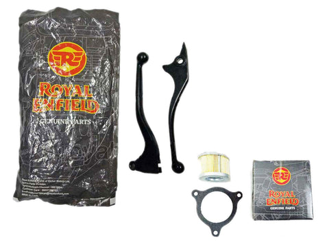 Royal Enfield Himalayan Clutch & Brake Lever Kit Black with Free Oil Filter