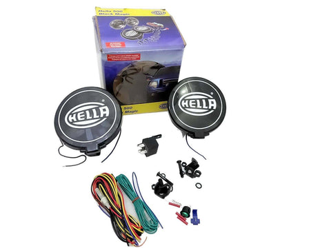 Hella Black Magic Comet 500 Halogen Driving Lamp Kit + Fitting Car Truck