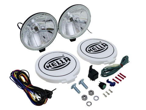 Hella Comet 500Ff Spot Driving Lamp Kit & Cover For Jeep Truck Willy Universal