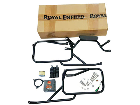 Brand New Royal Enfield Himalayan Pannier Rails with Trafficator Wiring