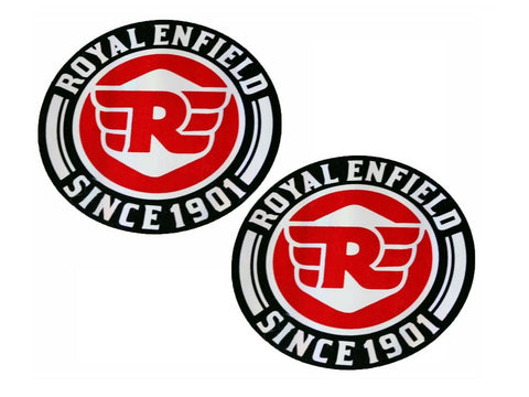 RE Logo Tool Box Sticker Decal Emblem Set For Royal Enfield Universal Fit