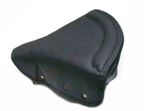 Lycett Black Leather Front Solo Seat Cover For Royal Enfield Ariel Triumph BSA