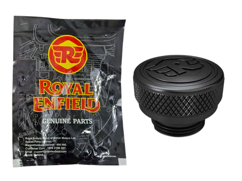 Brand New Machined Oil Filler Cap Black For Royal Enfield Interceptor 650