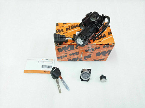 100% Genuine KTM Lock Set 3in1 Model 2011 to 2016 For KTM Duke 125