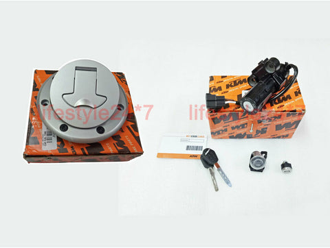100% Genuine KTM Lock Set 3in1 With Tank Cap For KTM Duke 200 390