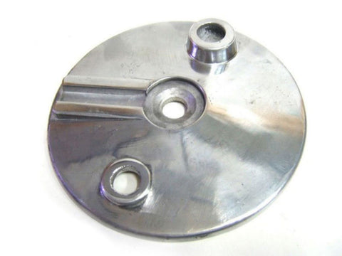 "6"" Silver Front Brake Cover Plate Fits Royal Enfield available at Royal Spares"