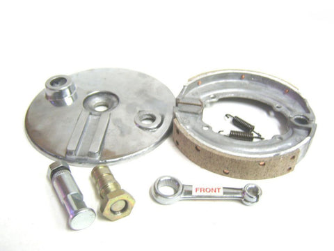 "Complete 6"" Front Brake Assembly with Brake Shoes Fits Royal Enfield available at Royal Spares"