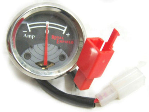 High Quality 8 Amp. Ammeter Black Grey Fits Royal Enfield Bullets available Online at Royal Spares