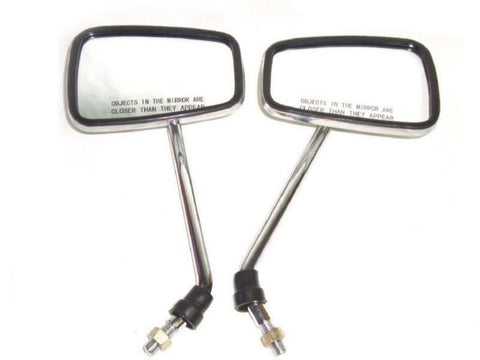 Set of Chromed Universal Rectangular Side Mirror Fits Royal Enfield available Online at Royal Spares