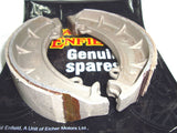 "New 7"" Pair Of Brake Shoes C/W Lining Fits Royal Enfield available at Online at Royal Spares"