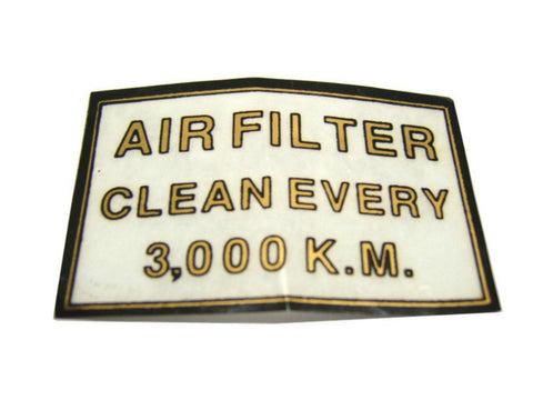 New Classic Air Filter Sticker Fits Royal Enfield Bike available at Online at Royal Spares