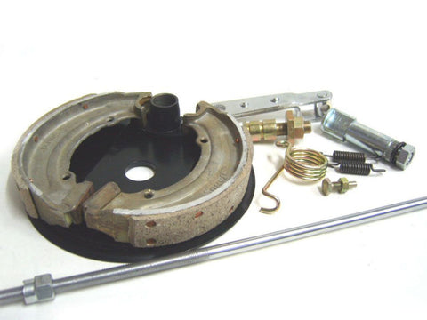 "New 6"" Complete Rear Brake Assembly Fits Royal Enfield available at Online at Royal Spares"