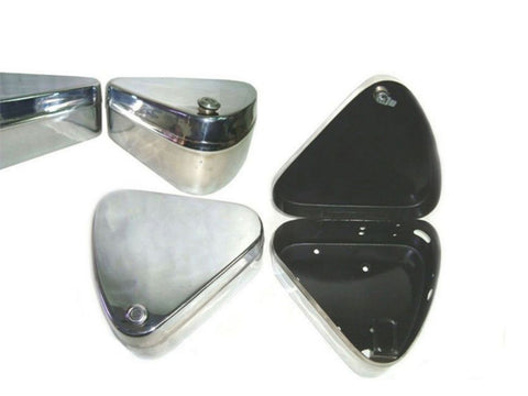 New Chromed Flat Lid Toolbox Set Fits Royal Enfield available at Online at Royal Spares