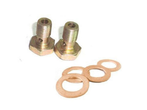 Rocker Oil Pipe Banjo Bolt & Washer Kit Fits Royal Enfield available at Online at Royal Spares