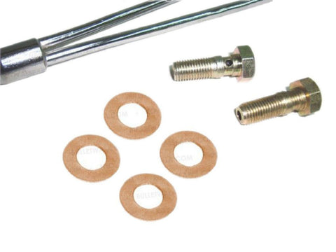 Copper Rocker Oil Feed Pipe+Banjo Unions Fits Royal Enfield available at Online at Royal Spares