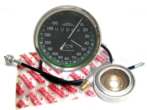 New 0-150 Smiths Speedo+Steel Hub Drive+ Re Speedo Cable Fits Royal Enfield available at Online at Royal Spares