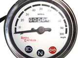 New White Face 0-100 Miles/HourSpeedometer Fits Royal Enfield available at Online at Royal Spares