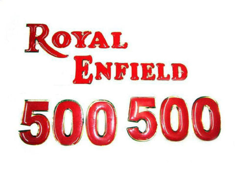 New Sticker Set Complete Raised Letters Fits Royal Enfield available at Online at Royal Spares