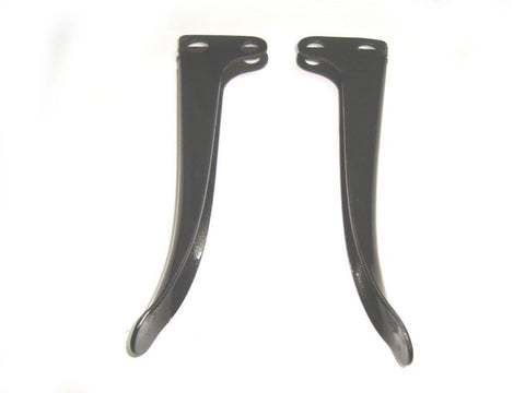 Black Powder Coated Brake & Clutch Levers Set Fits Royal Enfield available at Online at Royal Spares