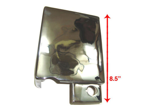 Chromed Electric Start Battery Cover Lockable Fits Royal Enfield available at Online at Royal Spares