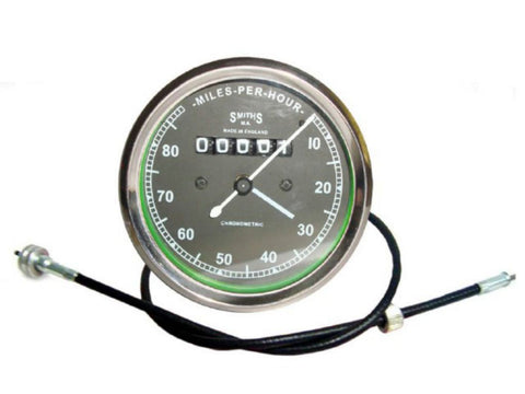 New 0-80 MPH Smiths Speedometer + Speedo Cable Fits Royal Enfield available at Online at Royal Spares
