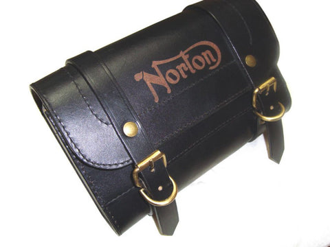New Customized Genuine Black Leather Tool Bag Fits Norton available at Online at Royal Spares
