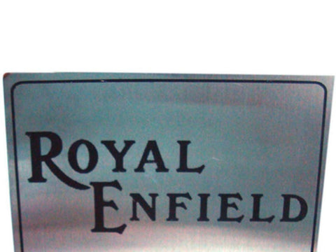 "Stainless Steel 6"" X 8"" Owner Parking Plate For Royal Enfield Owners available at Online at Royal Spares"
