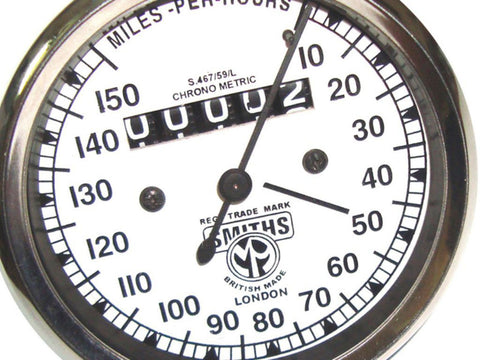 Speedometer 0-150 Mph White Face Fits Matchless available at Online at Royal Spares