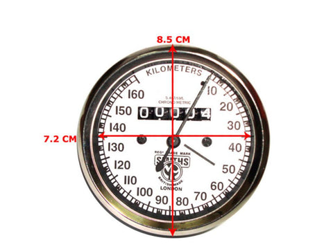 White Face  Speedometer 0-160 KM/Hr Fits Royal Enfield available at Online at Royal Spares
