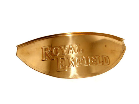 Customized 7 Inches Brass Headlamp Peak Fits Royal Enfield available at Online at Royal Spares