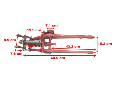 Complete Front Girder Fork Assembly Fits BSA M20  M21 available at Online at Royal Spares