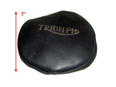 Triumph Headlamp Covers Genuine Black Leather Handcrafted