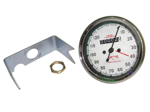 Smiths 0-120 MPH White Face Speedometer Fits Vintage Royal Enfield available at Online at Royal Spares