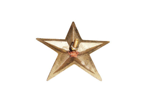 Pair of Brass Customized Star Decal With Fixing 3.75 Inch Fits Royal Enfield available at Online at Royal Spares