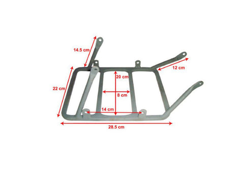 High Quality Rear Carrier Fits Vintage 350CC Matchless Military G3L Models available at Online at Royal Spares