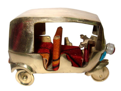 "Indian Brass Fit Auto Tuk Tuk Model Toy 3""H x 4""L 276 Gm Collectible Decor available at Online at Royal Spares"