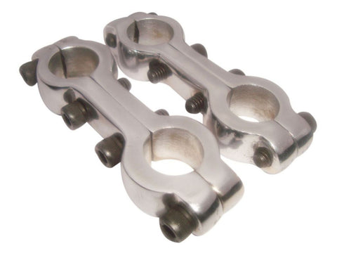 "Girder Fork Handlebar Clamps 7/8"" Chromed Fits Replica Norton 16h ES2 Model available at Online at Royal Spares"