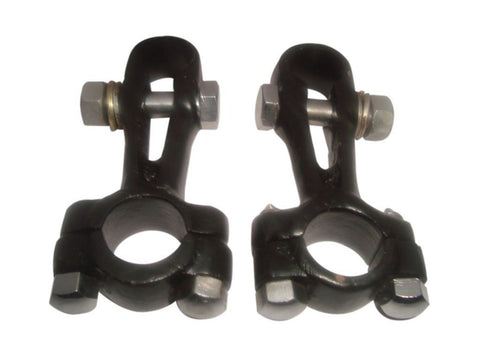 Girder Fork Handlebar Clamps 7/8 Inch Black Fits Royal Enfield  J J2 G G1 G2 available at Online at Royal Spares