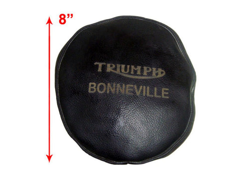 Headlamp Cover Handcrafted In Original Black Leather Fits Triumph Bonneville available at Online at Royal Spares