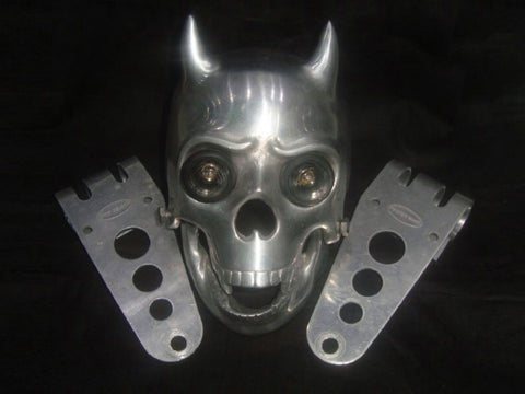 Custom Chopper Bobber Skull Headlight Fits: BSA, Norton, Triumph, Matchless available at Online at Royal Spares