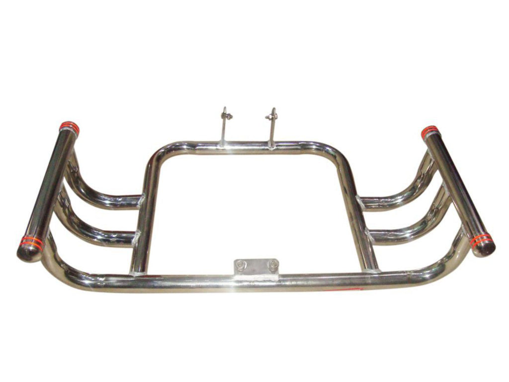ROYAL ENFIELD SOLID AIRFLY STYLE CHROME FRONT CRASH BAR//LEG GUARD