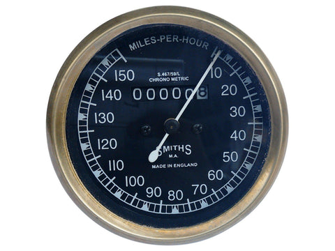 10-150/0-150 Mph Smiths Black Face Speedometer Fits Royal Enfield / BSA