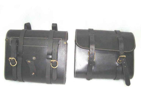 New Pair of Leather Saddle Bag Fits Early Royal Enfield Bullet