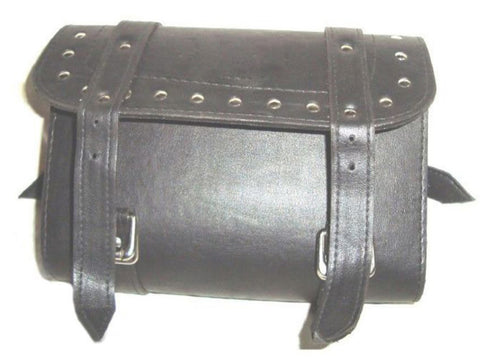 Brand New Leather Tool Roll Bag With Studs Fits Royal Enfield Bikes