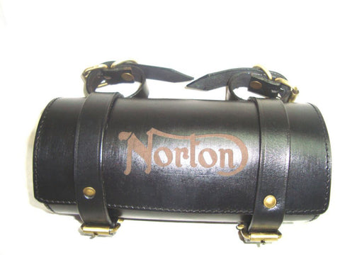 Customized Genuine Black Leather Handcrafted Norton Tool Bag (Auction Deal)
