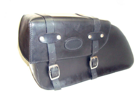 Pair Of Handcrafted Leather Saddle Bags +Fittings Fits Royal Enfield